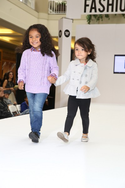 They don't get any cuter than these two precious models.  Runway fashion show at the Walden Galleria Mall.  The girls are modeling Gap.