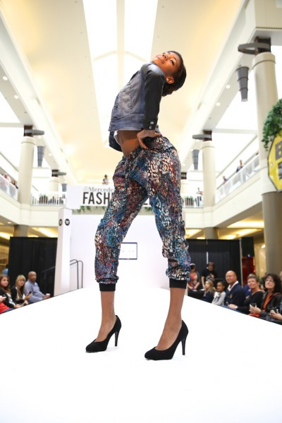 Bebe runway models at the Galleria Mall.  Love her energy and style!