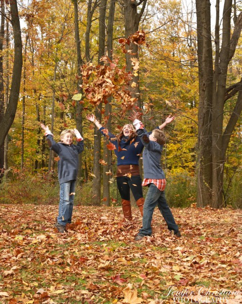 They had so much fun in the leaves.  The inner child came out during this shoot.